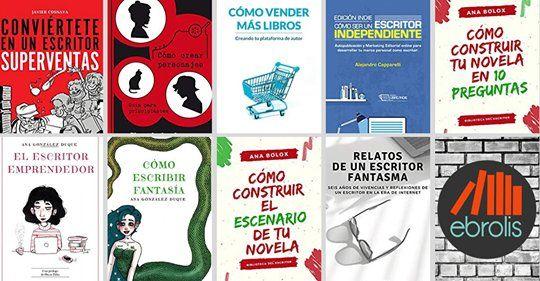 Pack de libros sobre escritura y autopublicación de Ebrolis